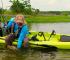 Kayak con pedales para pescar