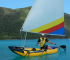 kayak hinchable con vela